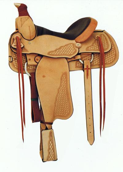 Willow Creek Saddle, Rusty Wallace Custom Saddles and Leatherwork